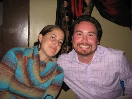 Liz & Scott at dinner
